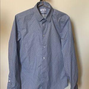 Calvin Klein Slim Fit Button Down Dress Shirt